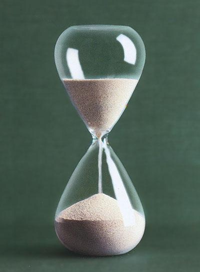 Modern Hourglass with Silver Plated Sand NOVA68com
