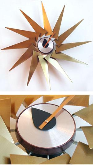 Vitra Turbine 30 Wall Clock in Brass by George Nelson NOVA68com