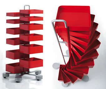 kitchen chairs with casters toy sets office furniture: spinny organizer storage cabinet drawers ...