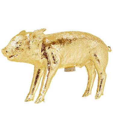 wine decor kitchen accessories light pendants for bank in the shape of a pig - gold: nova68.com