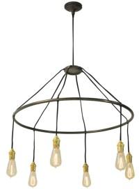 Round edison bulb chandelier   NOVA68.com