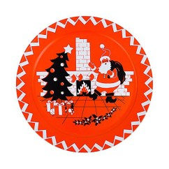 Modern Luxury Sofa Jcpenney Leather Retro Christmas Decorations: Santa Serving Plate Classic ...