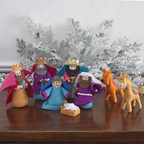 Small Cloth Nativity Set MultiColor NOVA68com