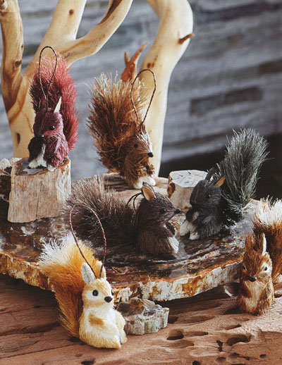 Fun Squirrel Ornament In Christmas Tree Ornaments Set Of
