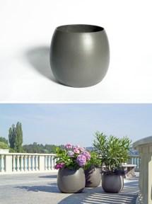 Sumo Modern Barrel-shaped Outdoor Garden Design Planter
