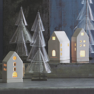 Tea Light Candle Houses Votives Christmas Gift Decoration