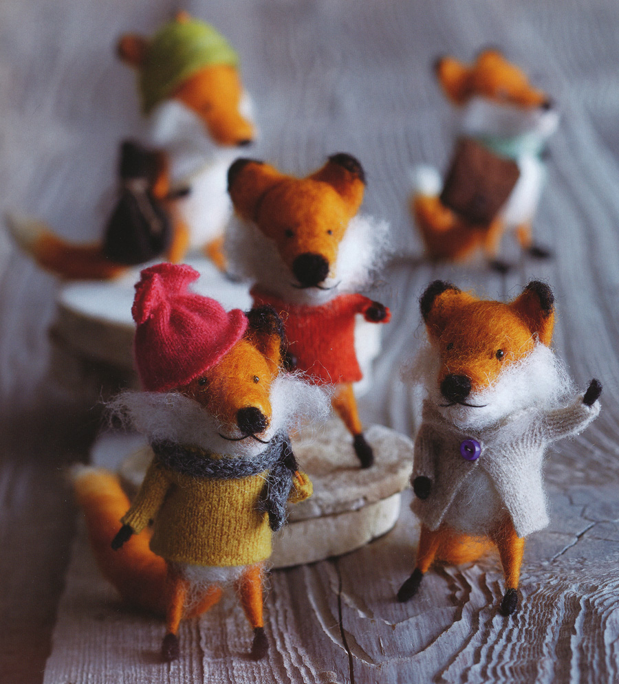 Foxy Friends Party Christmas Tree Ornaments Set of 5