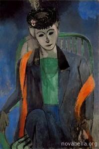 Retrato_de_la_mujer_del_artista_1913_Matisse_Hermitage_Rusia