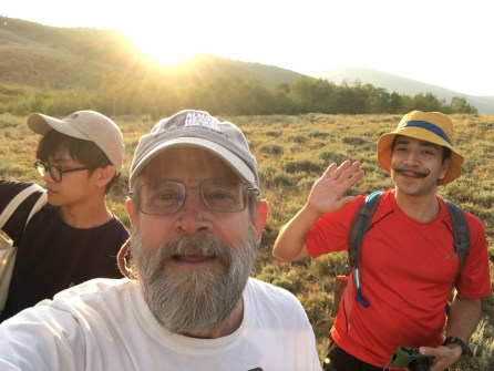 Guy Brandenburg - Hike the evening before eclipse, near lander, WY