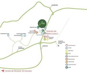 Apartamentos en Panamá Proyectos de Apartamentos en Panamá Económicos en venta Jardines del Este Mapa