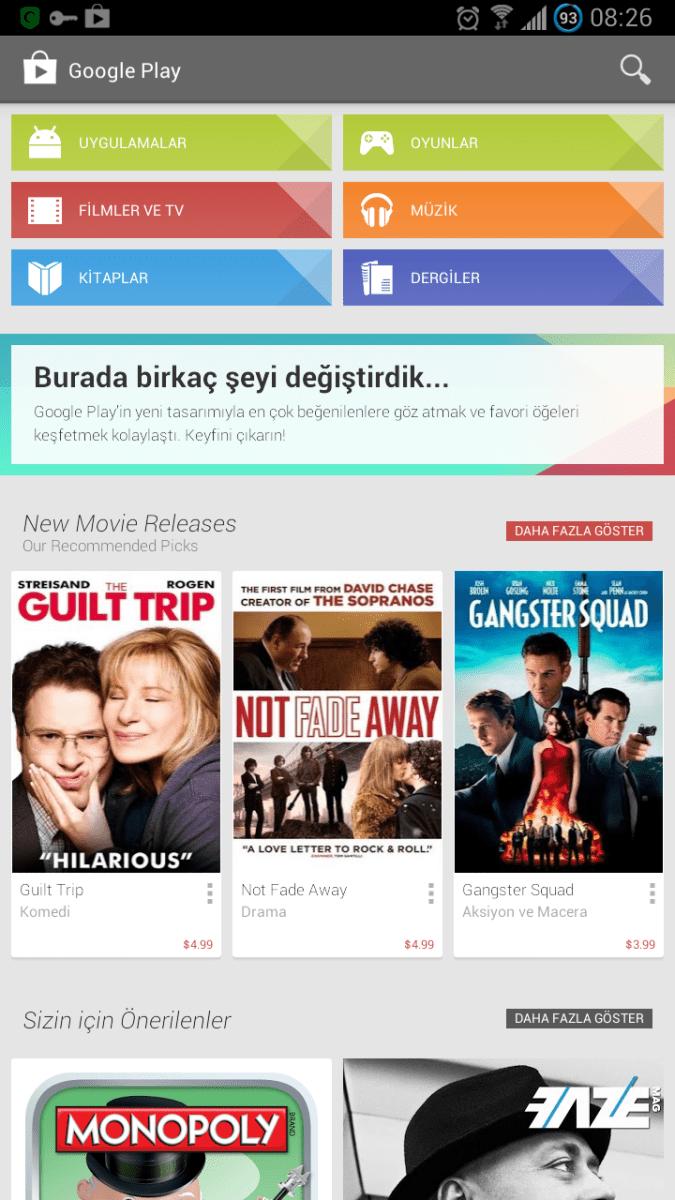 Google Play Store 4.1.6 çıktı! Hemen İndirin