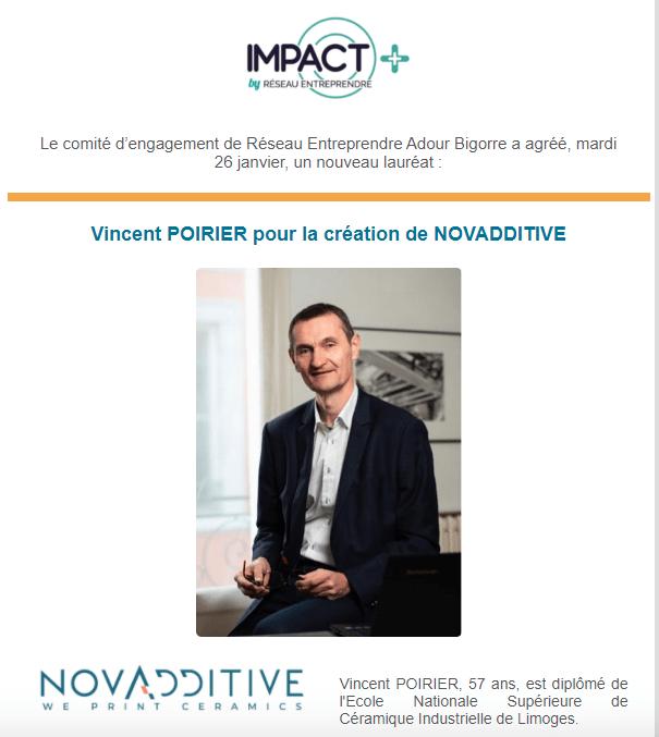 Vincent Poirier élu nouveau lauréat