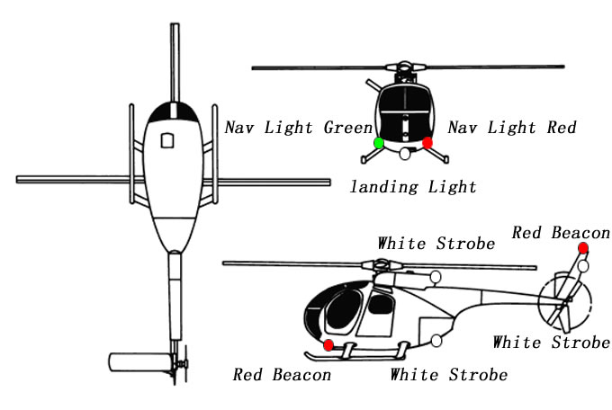 RC True Realism Large Scale Navigation 12 LED Lights For