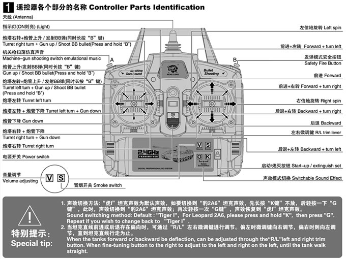 1/16 RC 2.4G Smoke&Sound German Panther G Tank Metal