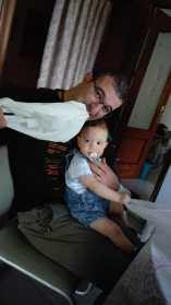 Jose y Pablo, marido y bebé de la seño Mari: 134 personas alcanzadas