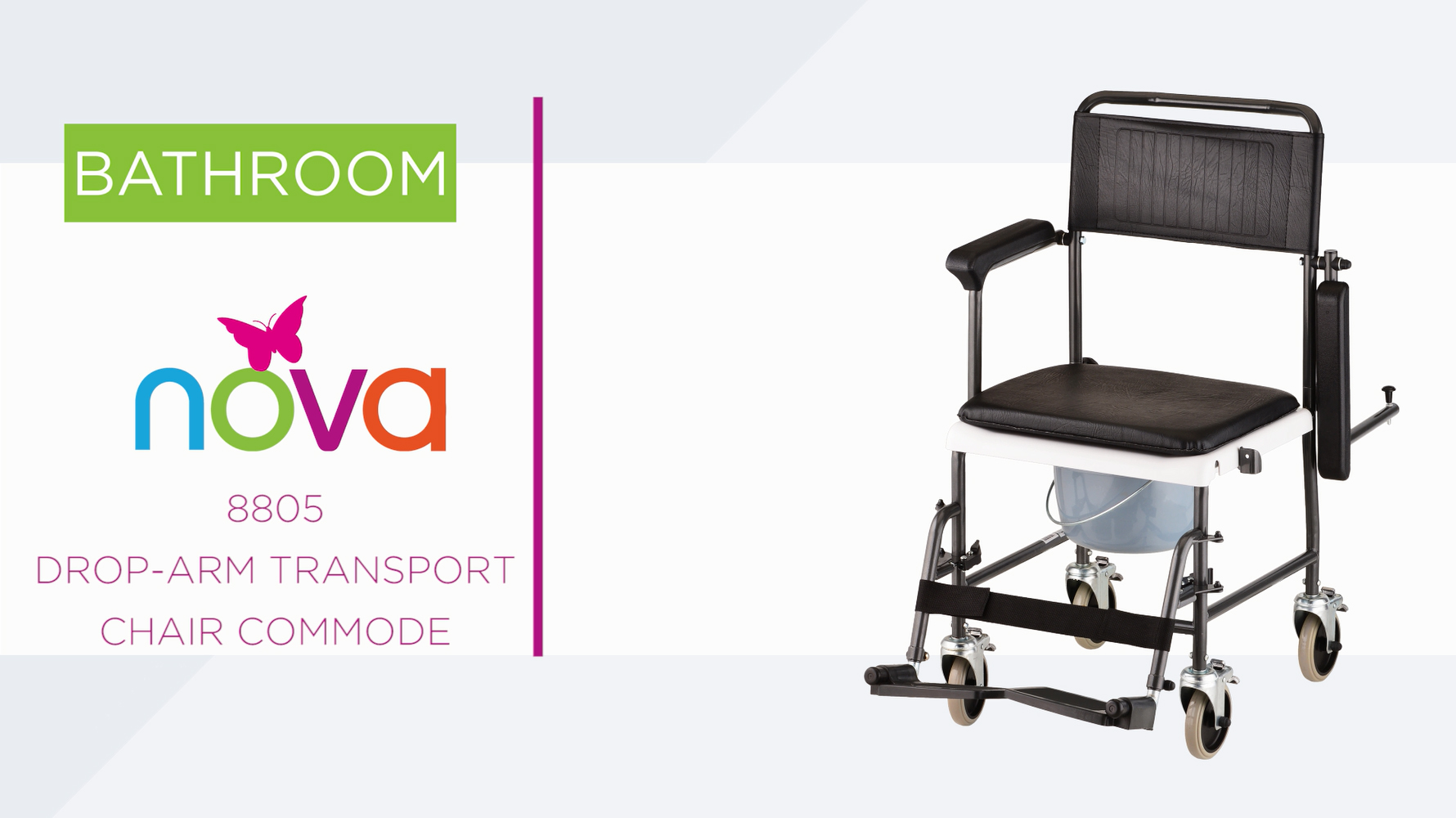 transport wheelchair nova wedding chair cover hire lanarkshire commodes 8805 drop arm commode