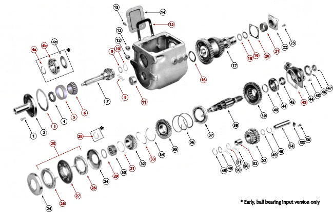 Ford new process transmission parts
