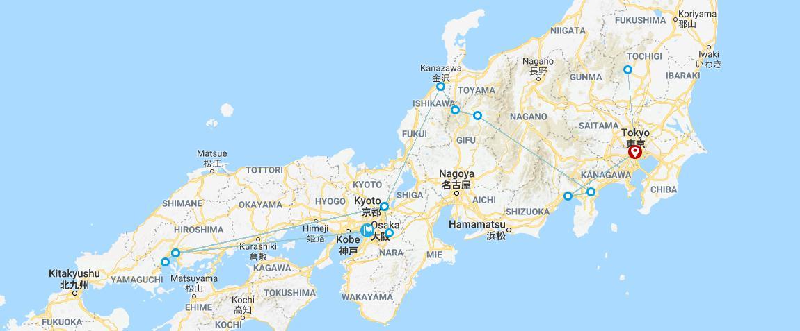 15 Days Japan UNESCO Tours Tokyo Nikko Mt.Fuji Hakone Takayama Shirakawa-go Kanazawa Kyoto Nara Hiroshima Miyajima Osaka