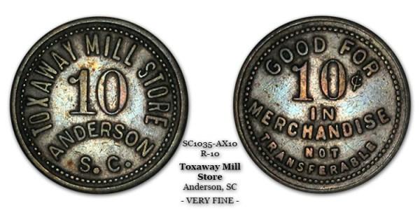 SC1035-AX10 Toxaway Mill Store Scrip