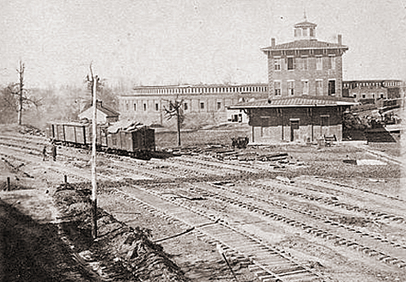 Buildings and Railyard of the Western & Atlantic Railroad - Atlanta George November 1864