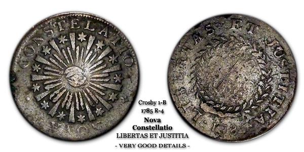 1785 Nova Constelatio Crosby 1-B Libertas Et Justitia