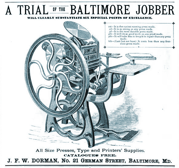 Dorman Stencil Company JFW Baltimore Maryland Die Sinkers
