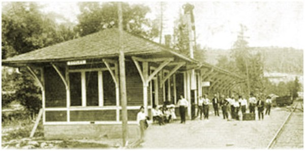 Railroad Depot Eccles, West Virginia, circa early 20th Century