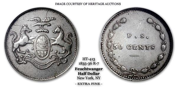 Corporation of Philadelphia HT-413 50 Cents F.S. Lewis Feuchtwanger