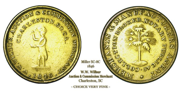 SC-8C, Obverse-2 (Period), Reverse-B (Bushy Tree), Gilt Brass