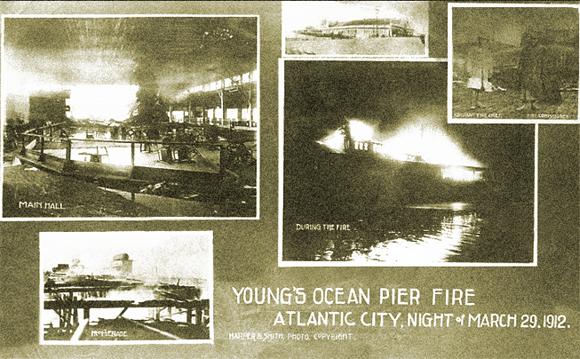 Ocean Pier Fire, Young's Pier 1912