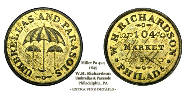 Miller Pa-424 circa 1845 W.H. Richardson 104 Market St. Philadelphia