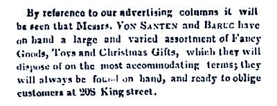 Von Santen & Bernard S. Baruc Christmas Newspaper