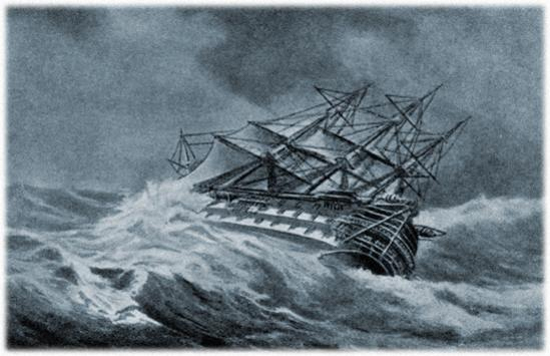Author's Rendering of the Wreck of the Faithful Steward