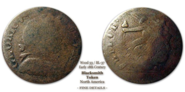 Canadian Blacksmith Token Wood-33 BL-37