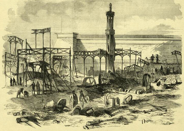 After the Conflagration at Crystal Palace, October 6, 1858