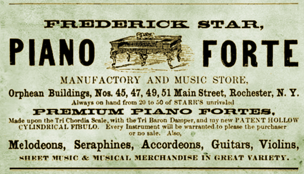 Frederick Starr Piano Forte Manufactory and Music Store