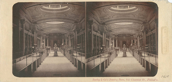 Stereoscope Card - Bailey & Co Jewelry Store, 918 Chestnut St., Philad'a.
