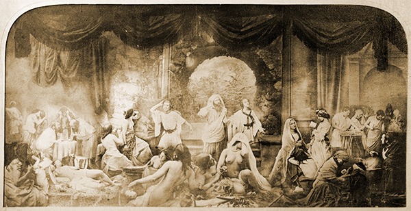 An example of Tableaux Vivants Theatre - 'Two Ways of Life,' Oscar Gustave Rejlander, c.1857