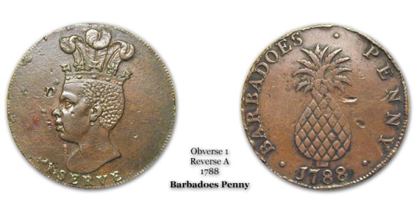 1788 Barbadoes Penny Obverse 1 Reverse A