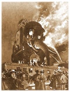 Elephantine Colossus Ablaze