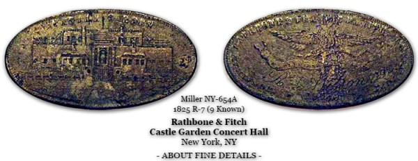 Miller NY-654A Rathbone & Fitch Castle Garden Concert Hall c.1825