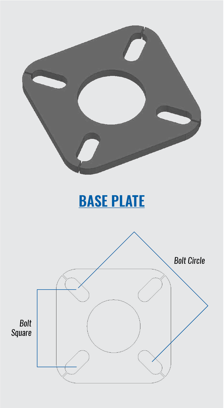 hight resolution of bolt square circle guide