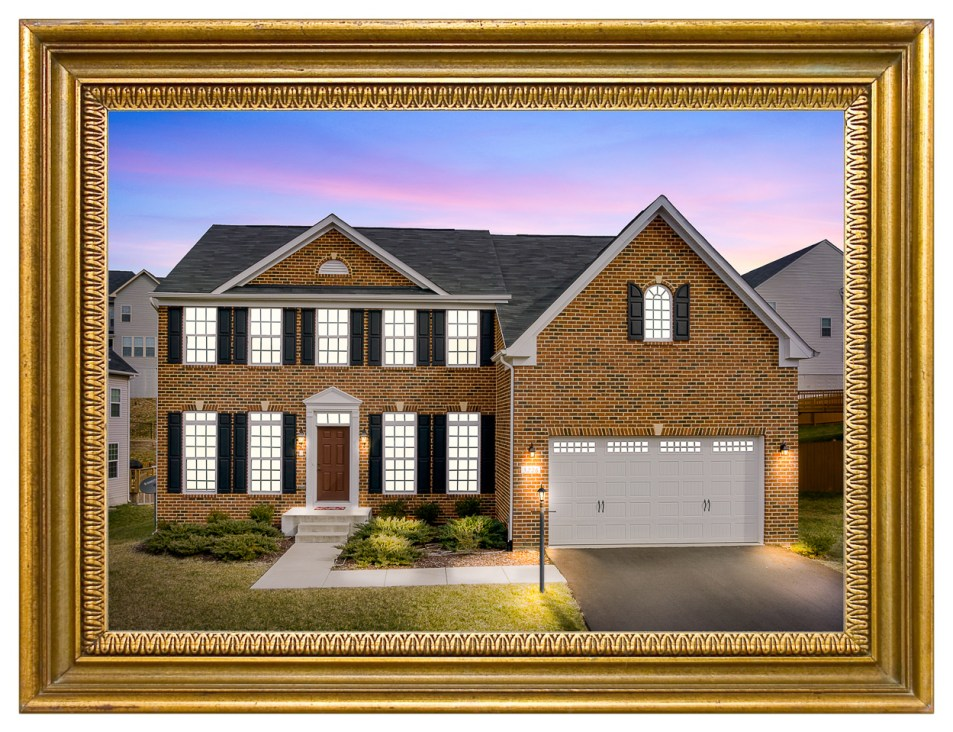 Real Estate Twilight Photography Image framed