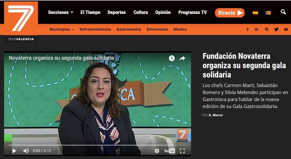 Novaterra en el programa «Gastroteca» de Tele 7 Valencia