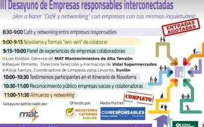Novaterra cuelga el cartel de completo en el III Networking de empresas responsables interconectadas