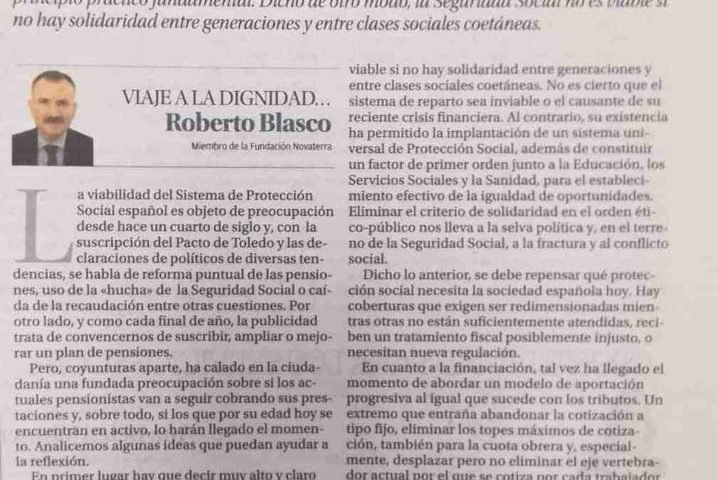"""Roberto Blasco """"Apuntes para la sostenibilidad de la Seguridad Social"""""""
