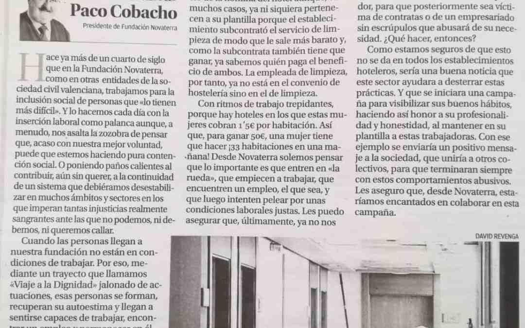 Paco Cobacho «El dilema de empoderar o consentir la precariedad»