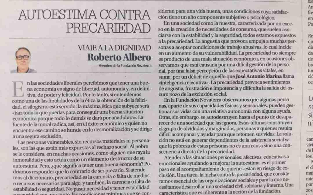 Roberto Albero «Autoestima contra precariedad»
