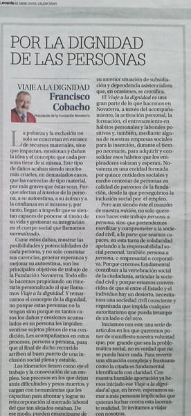 """Francisco Cobacho: """"Por la dignidad de las personas"""""""