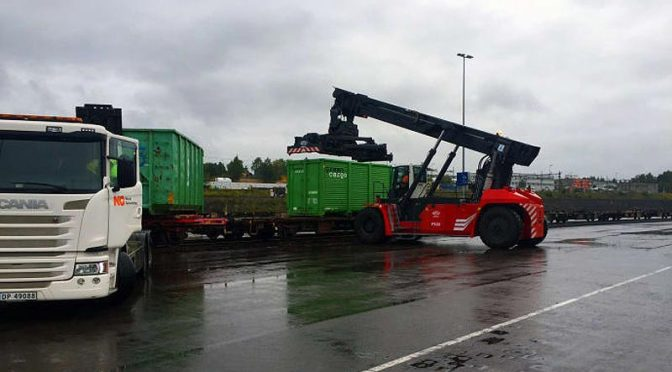 Tåg transport container RT-flis
